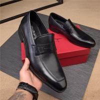 Salvatore Ferragamo SF Leather Shoes For Men #496876