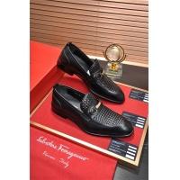 Salvatore Ferragamo SF Leather Shoes For Men #496885