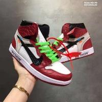 Nike Air Jordan 1 & Off-White For Men #497436