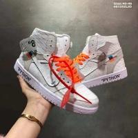 Nike Air Jordan 1 & Off-White For Men #497437