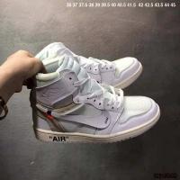 Nike Air Jordan 1 & Off-White For Men #497440