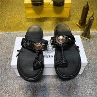 Cheap Versace Fashion Slippers For Men #497804 Replica Wholesale [$50.44 USD] [W#497804] on Replica Versace Slippers