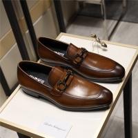 Salvatore Ferragamo SF Leather Shoes For Men #498109