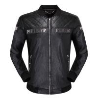 Philipp Plein PP Leather Jackets Long Sleeved Zipper For Men #498630
