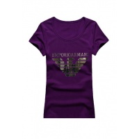 Armani T-Shirts Short Sleeved O-Neck For Women #502357
