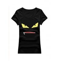 Fendi T-Shirts Short Sleeved O-Neck For Women #502363