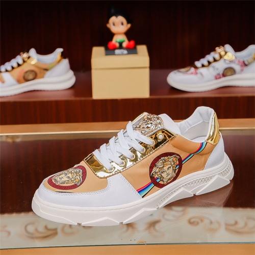 Cheap Versace Casual Shoes For Men #517147 Replica Wholesale [$73.72 USD] [W#517147] on Replica Versace Fashion Shoes