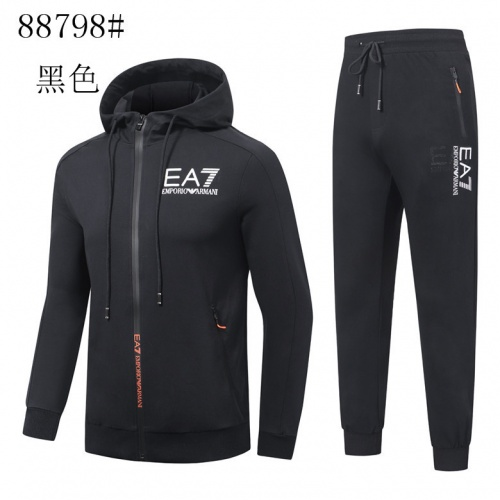 Cheap Armani Tracksuits Long Sleeved Zipper For Men #525325 Replica Wholesale [$65.96 USD] [W#525325] on Replica Armani Tracksuits