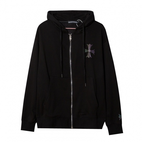 Cheap Chrome Hearts Hoodies Long Sleeved Zipper For Men #525382 Replica Wholesale [$41.71 USD] [W#525382] on Replica Chrome Hearts Hoodies