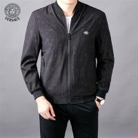 Versace Jackets Long Sleeved Zipper For Men #522487