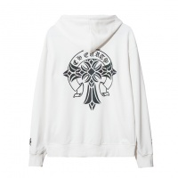 Chrome Hearts Hoodies Long Sleeved Zipper For Men #525381