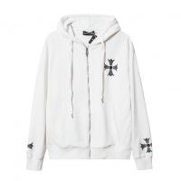 Cheap Chrome Hearts Hoodies Long Sleeved Zipper For Men #525381 Replica Wholesale [$41.71 USD] [W#525381] on Replica Chrome Hearts Hoodies