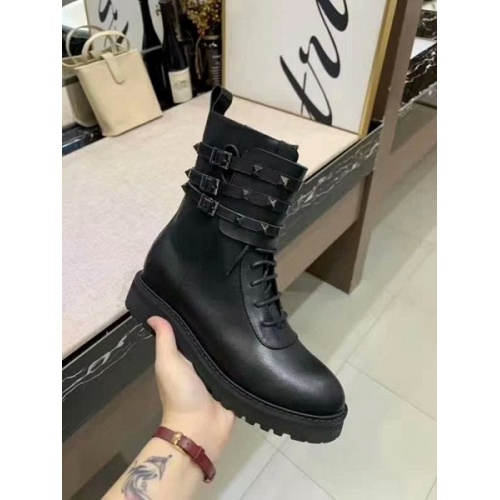 Cheap Valentino Boots For Women #525556 Replica Wholesale [$95.06 USD] [W#525556] on Replica Valentino Boots