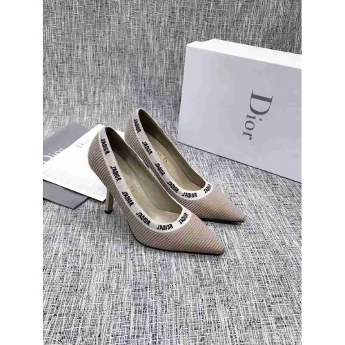 Cheap Christian Dior High-Heeled Shoes For Women #525634 Replica Wholesale [$108.64 USD] [W#525634] on Replica Christian Dior High-Heeled Shoes