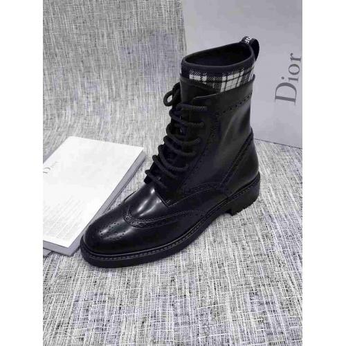 Cheap Christian Dior Boots For Women #525675 Replica Wholesale [$145.50 USD] [W#525675] on Replica Christian Dior Boots