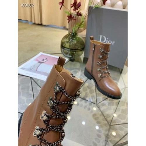 Cheap Christian Dior Boots For Women #525679 Replica Wholesale [$97.00 USD] [W#525679] on Replica Christian Dior Boots