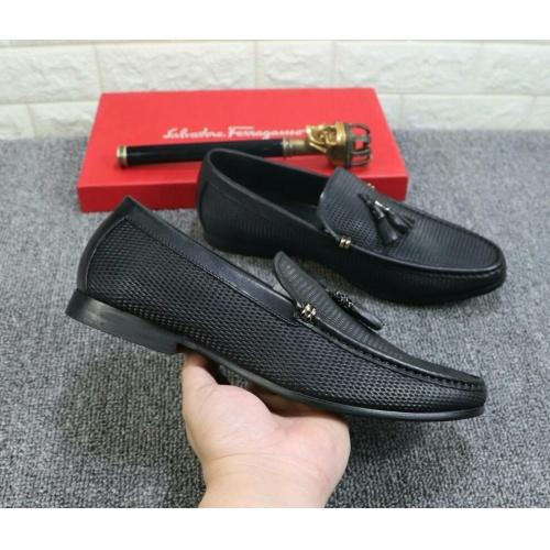 Cheap Ferragamo Leather Shoes For Men #525681 Replica Wholesale [$85.36 USD] [W#525681] on Replica Ferragamo Leather Shoes