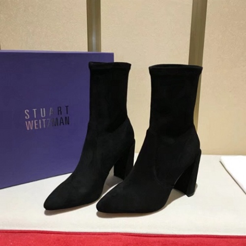 Cheap Stuart Weitzman Boots For Women #525719 Replica Wholesale [$77.60 USD] [W#525719] on Replica Stuart Weitzman Boots