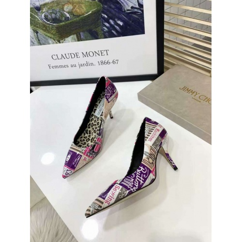 Cheap Jimmy Choo High-Heeled Shoes For Women #525759 Replica Wholesale [$77.60 USD] [W#525759] on Replica Jimmy Choo High-Heeled Shoes