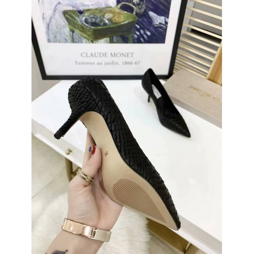 Cheap Jimmy Choo High-Heeled Shoes For Women #525760 Replica Wholesale [$77.60 USD] [W#525760] on Replica Jimmy Choo High-Heeled Shoes