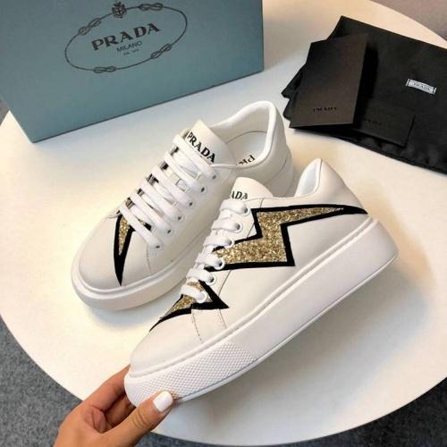 Cheap Prada Casual Shoes For Women #525833 Replica Wholesale [$79.54 USD] [W#525833] on Replica Prada Casual Shoes
