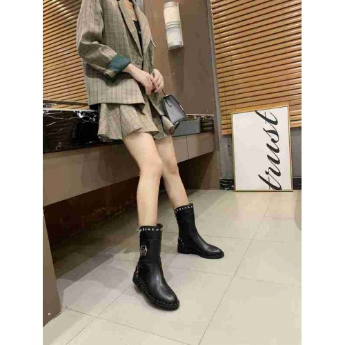 Cheap Philipp Plein PP Boots For Women #526085 Replica Wholesale [$98.94 USD] [W#526085] on Replica Philipp Plein PP Boots