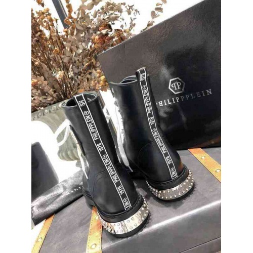 Cheap Philipp Plein PP Boots For Women #526086 Replica Wholesale [$98.94 USD] [W#526086] on Replica Philipp Plein PP Boots