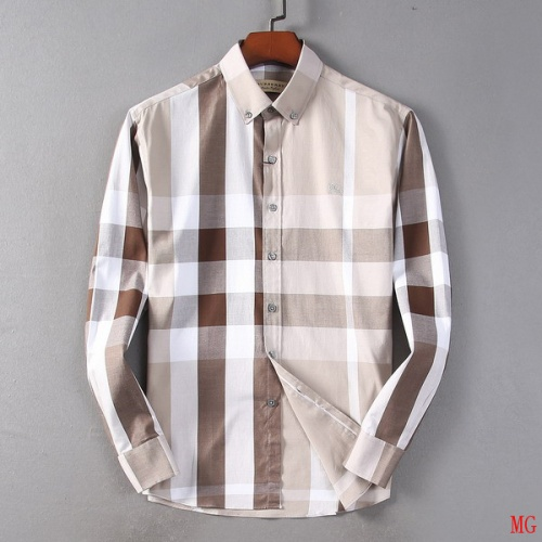 Burberry Shirts Long Sleeved Polo For Men #527774