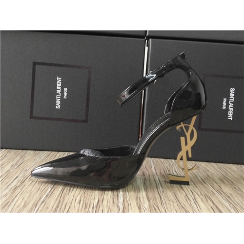 Cheap Yves Saint Laurent YSL High-Heeled Shoes For Women #528745 Replica Wholesale [$85.36 USD] [W#528745] on Replica Yves Saint Laurent YSL High-Heeled Shoes