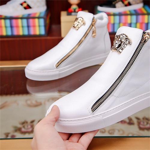 Cheap Versace Boots For Men #531566 Replica Wholesale [$79.54 USD] [W#531566] on Replica Versace Boots