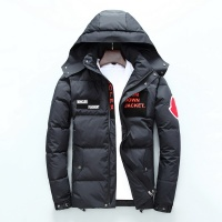Moncler Down Feather Coats Long Sleeved Zipper For Men #530477