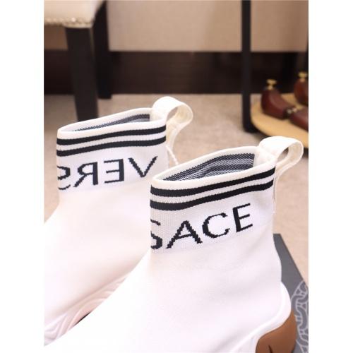 Cheap Versace Boots For Men #536141 Replica Wholesale [$77.60 USD] [W#536141] on Replica Versace Boots