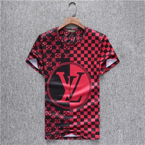 Louis Vuitton LV T-Shirts Short Sleeved O-Neck For Men #538540