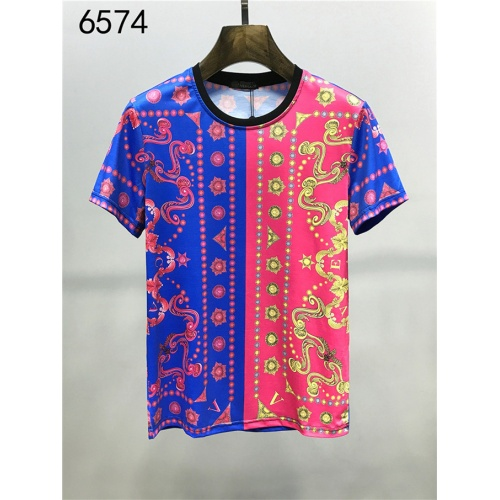 Cheap Versace T-Shirts Short Sleeved O-Neck For Men #540402 Replica Wholesale [$26.19 USD] [W#540402] on Replica Versace T-Shirts