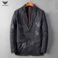 Armani Cotton Coats Long Sleeved Zipper For Men #541496