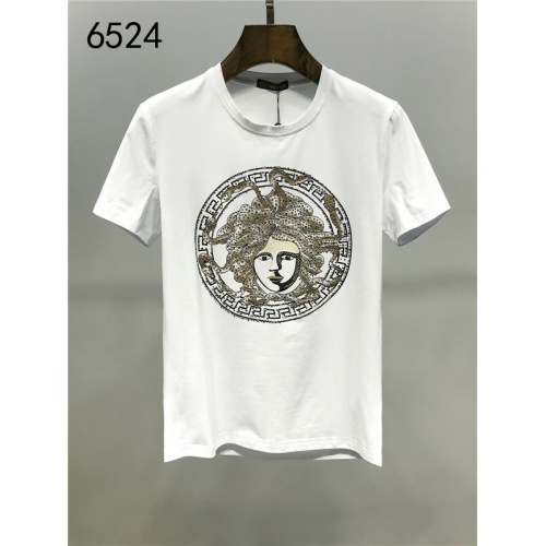 Cheap Versace T-Shirts Short Sleeved O-Neck For Men #542201 Replica Wholesale [$24.25 USD] [W#542201] on Replica Versace T-Shirts
