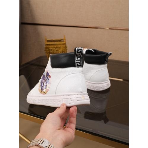 Cheap Versace High Tops Shoes For Men #545310 Replica Wholesale [$79.54 USD] [W#545310] on Replica Versace High Tops Shoes