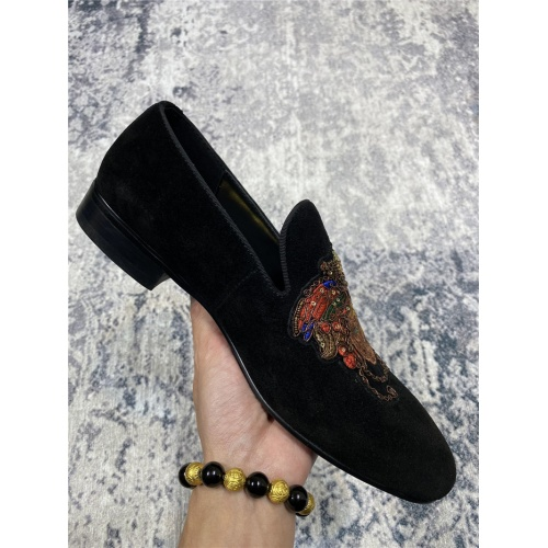 Cheap Versace Leather Shoes For Men #550796 Replica Wholesale [$69.84 USD] [W#550796] on Replica Versace Leather Shoes