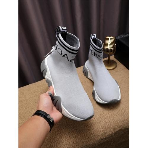 Cheap Versace Boots For Men #550945 Replica Wholesale [$73.72 USD] [W#550945] on Replica Versace Boots