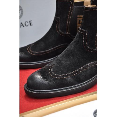Cheap Versace Boots For Men #551726 Replica Wholesale [$108.64 USD] [W#551726] on Replica Versace Boots