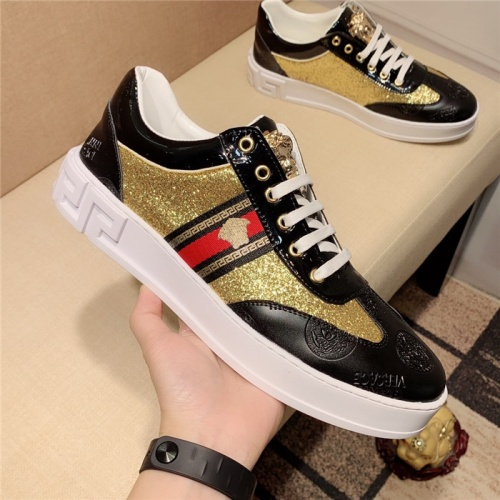 Cheap Versace Casual Shoes For Men #552971 Replica Wholesale [$73.72 USD] [W#552971] on Replica Versace Shoes