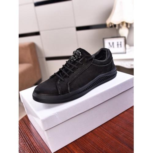 Cheap Versace Casual Shoes For Men #555401 Replica Wholesale [$78.57 USD] [W#555401] on Replica Versace Fashion Shoes