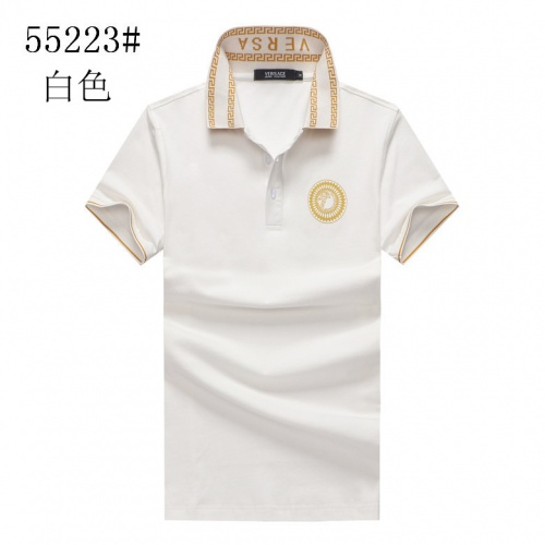 Cheap Versace T-Shirts Short Sleeved Polo For Men #561556 Replica Wholesale [$23.28 USD] [W#561556] on Replica Versace T-Shirts
