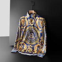 Versace Shirts Long Sleeved Polo For Men #561355