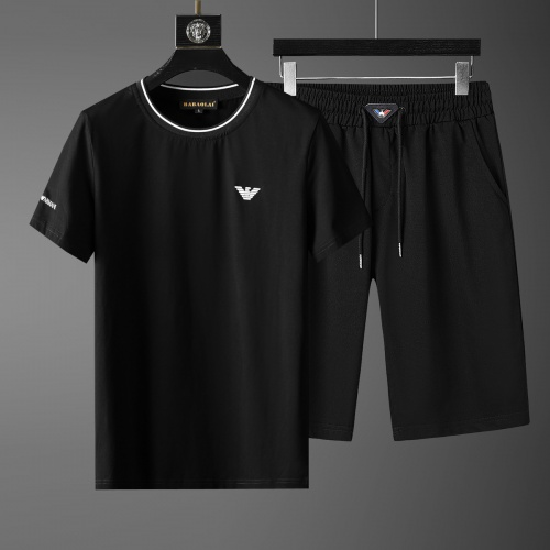 Cheap Armani Tracksuits Short Sleeved O-Neck For Men #770389 Replica Wholesale [$46.56 USD] [W#770389] on Replica Armani Tracksuits