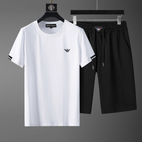 Cheap Armani Tracksuits Short Sleeved O-Neck For Men #770393 Replica Wholesale [$46.56 USD] [W#770393] on Replica Armani Tracksuits