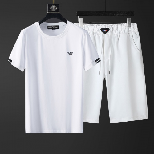 Cheap Armani Tracksuits Short Sleeved O-Neck For Men #770394 Replica Wholesale [$46.56 USD] [W#770394] on Replica Armani Tracksuits