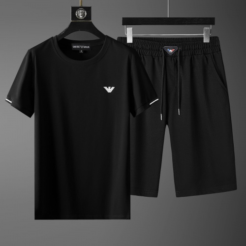 Cheap Armani Tracksuits Short Sleeved O-Neck For Men #770395 Replica Wholesale [$46.56 USD] [W#770395] on Replica Armani Tracksuits