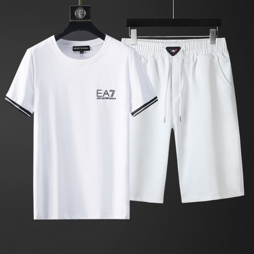 Cheap Armani Tracksuits Short Sleeved O-Neck For Men #770396 Replica Wholesale [$46.56 USD] [W#770396] on Replica Armani Tracksuits