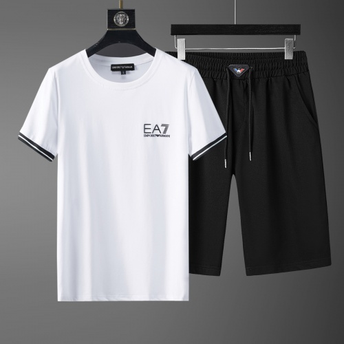Cheap Armani Tracksuits Short Sleeved O-Neck For Men #770397 Replica Wholesale [$46.56 USD] [W#770397] on Replica Armani Tracksuits